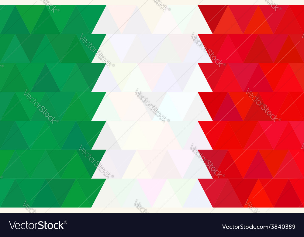 Geometric background in Italy flag Triangle