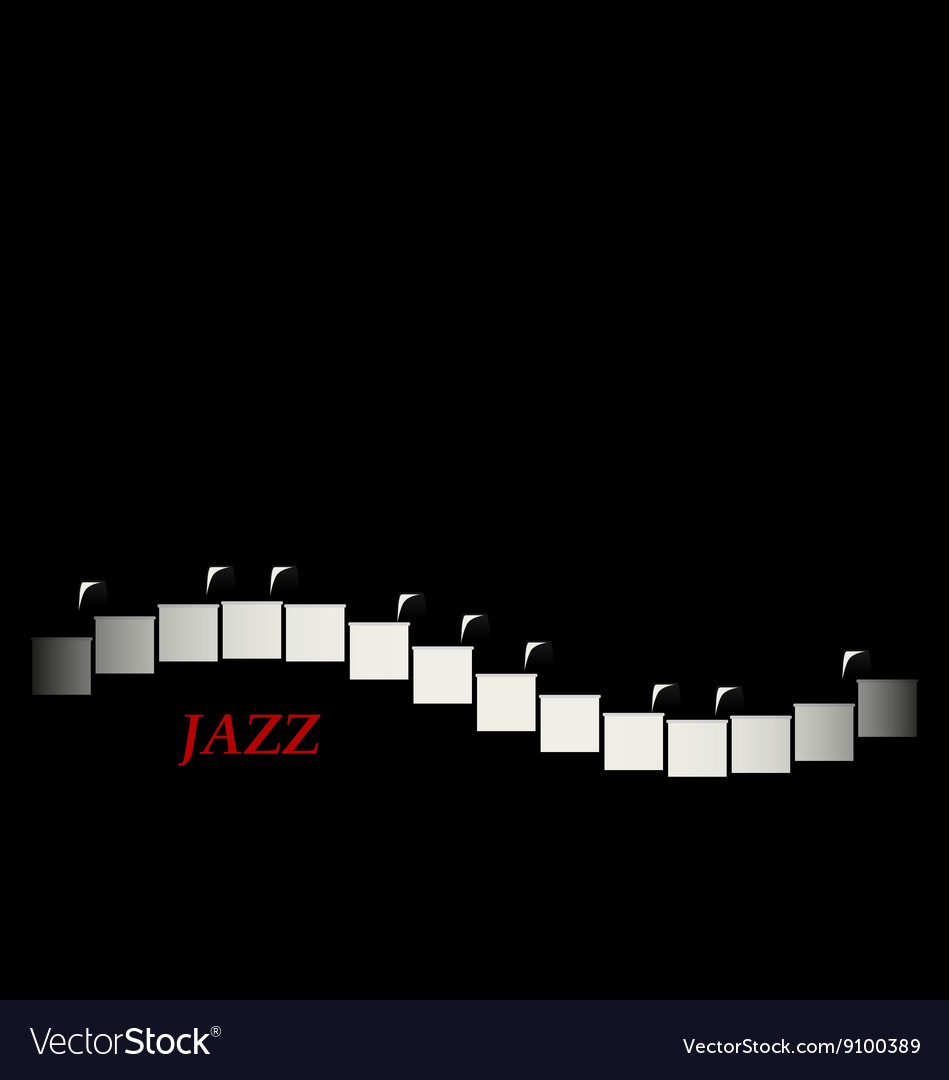 Jazz cafe concept Piano keyboard
