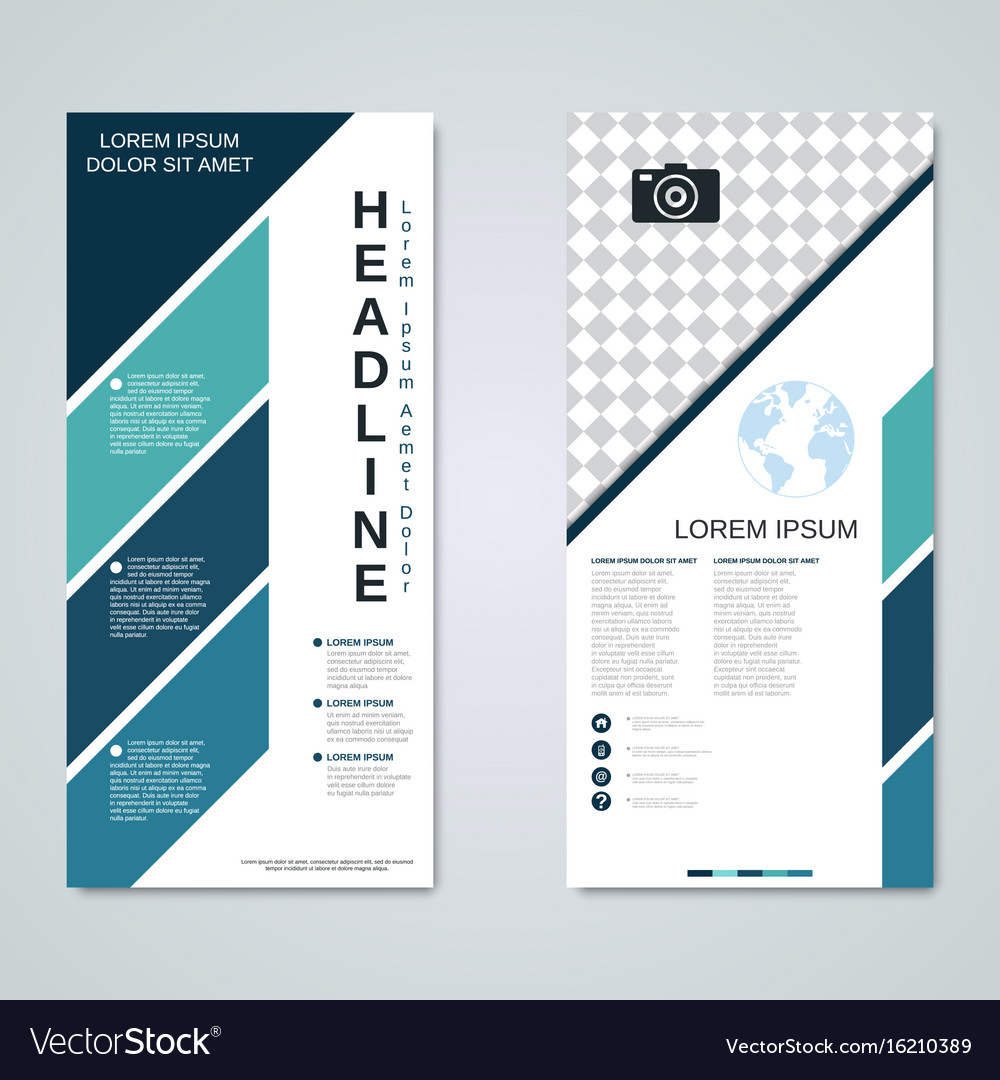 Modern roll-up business banners template