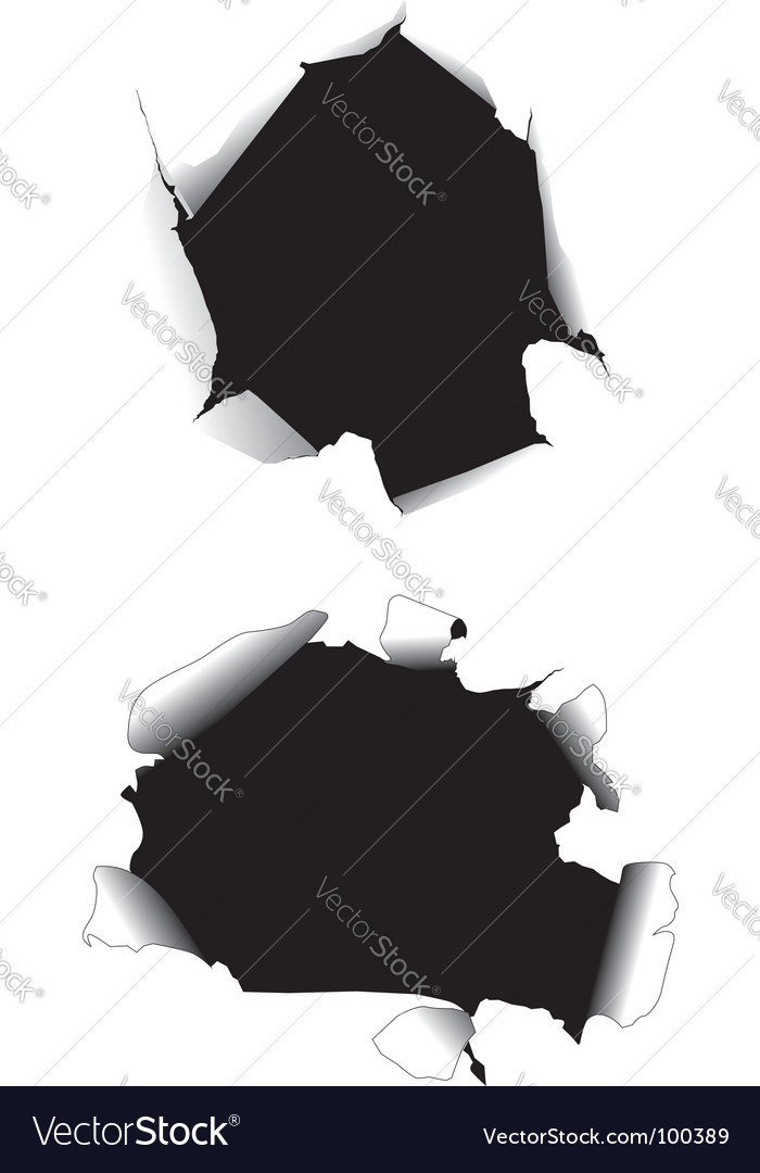 Paper holes vector image