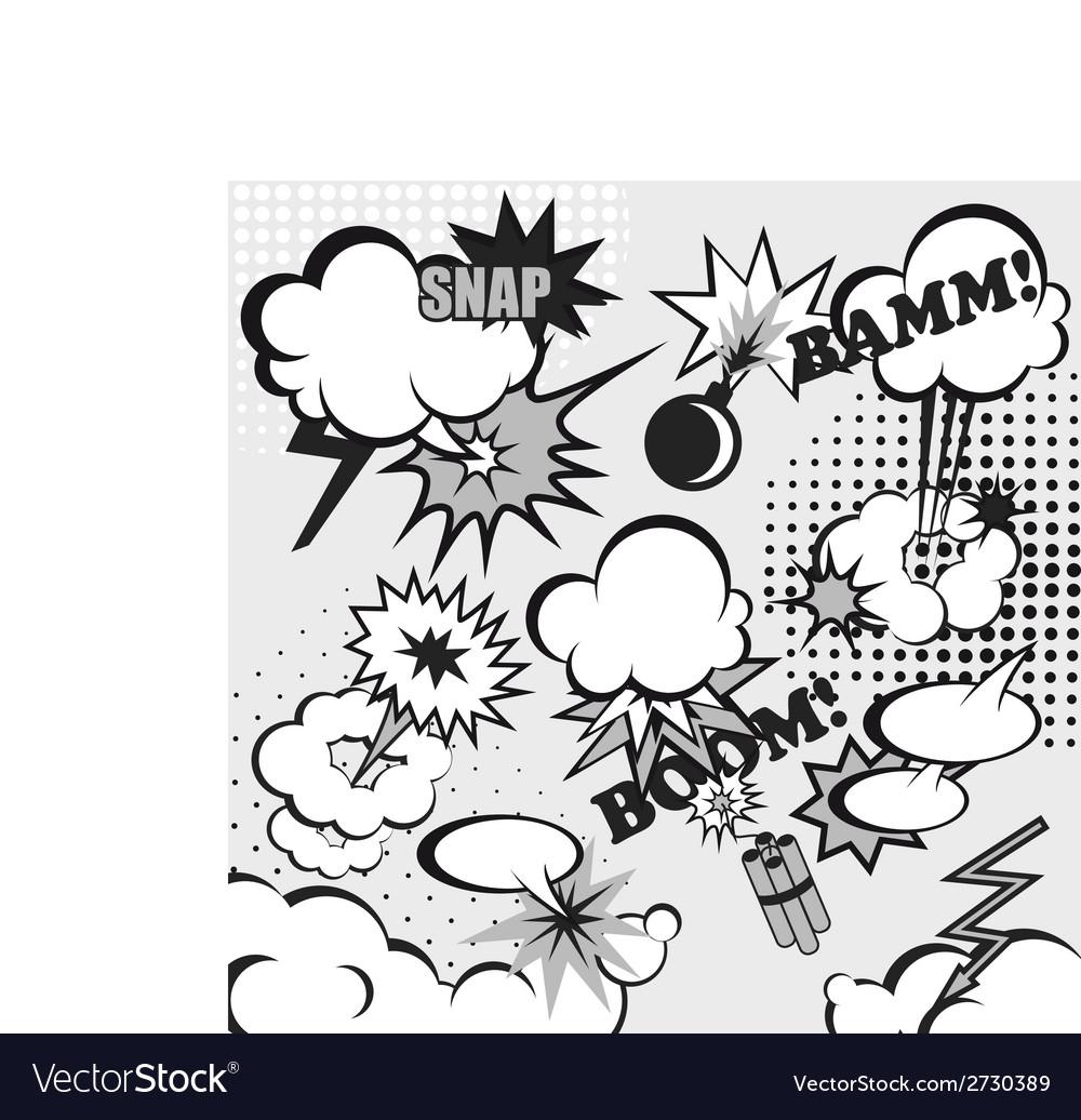 Pop art comic background vector image