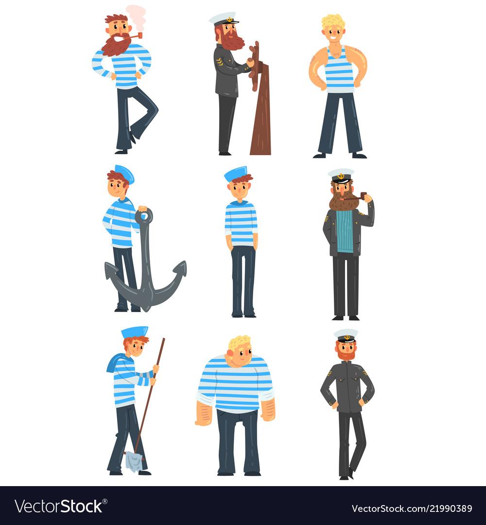Sailors and captains doing their job seamen
