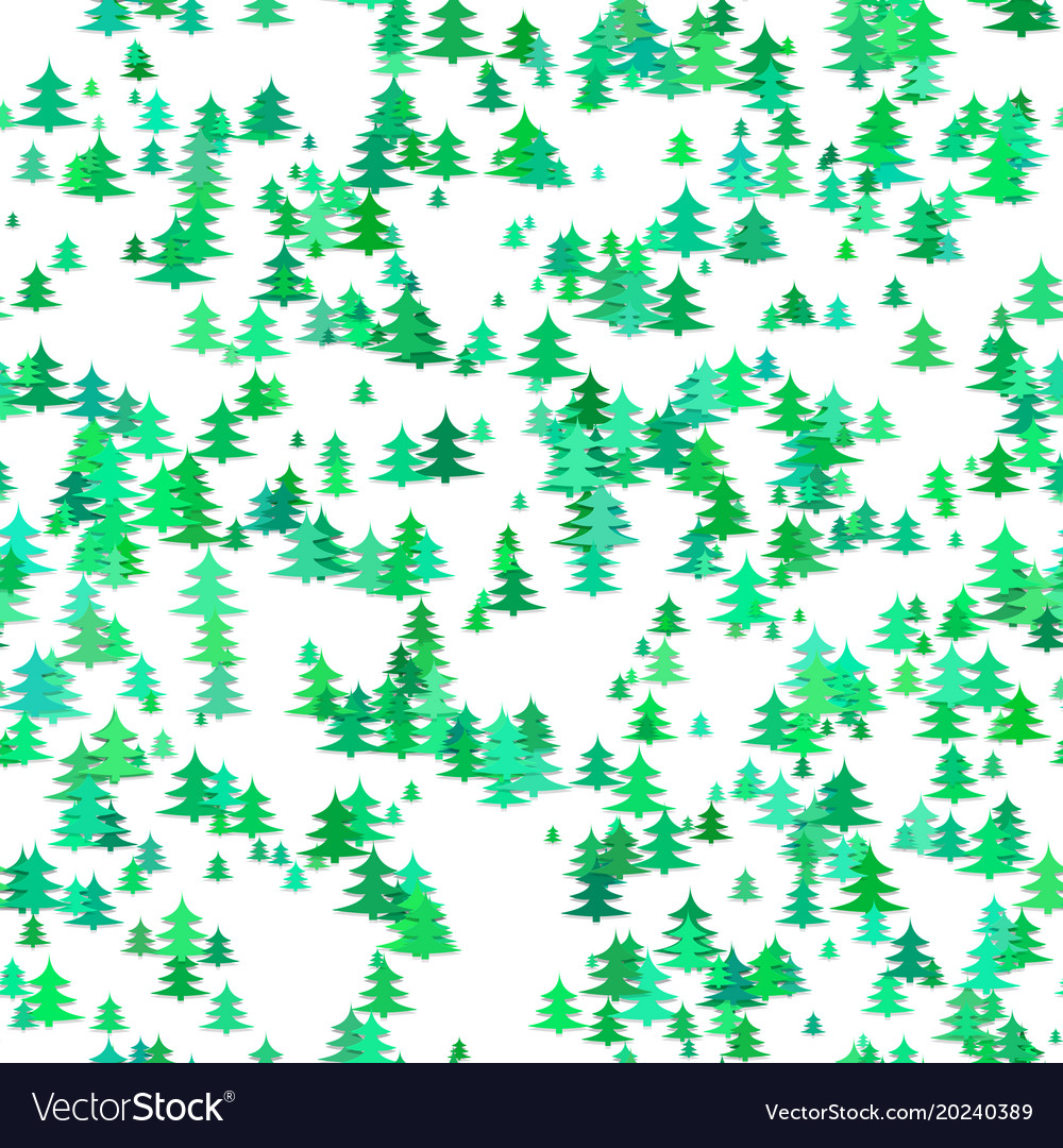 Seamless random christmas background decoration vector image