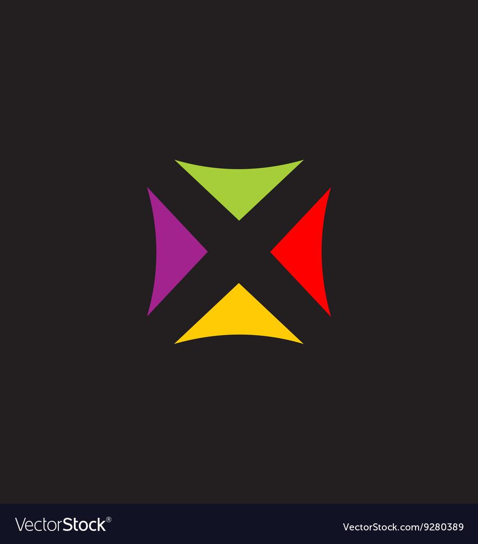 Square colorful triangle logo