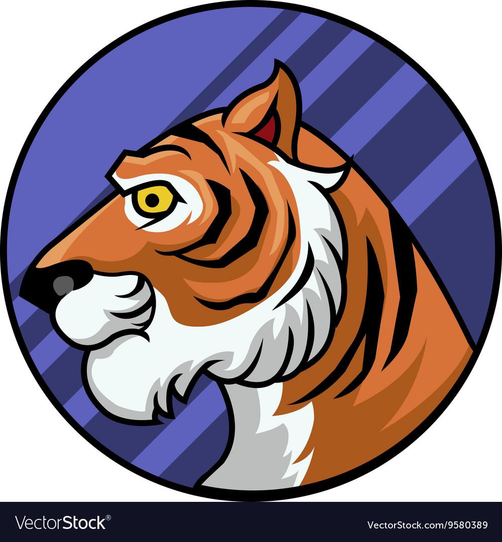 Tiger Circle Badge vector image