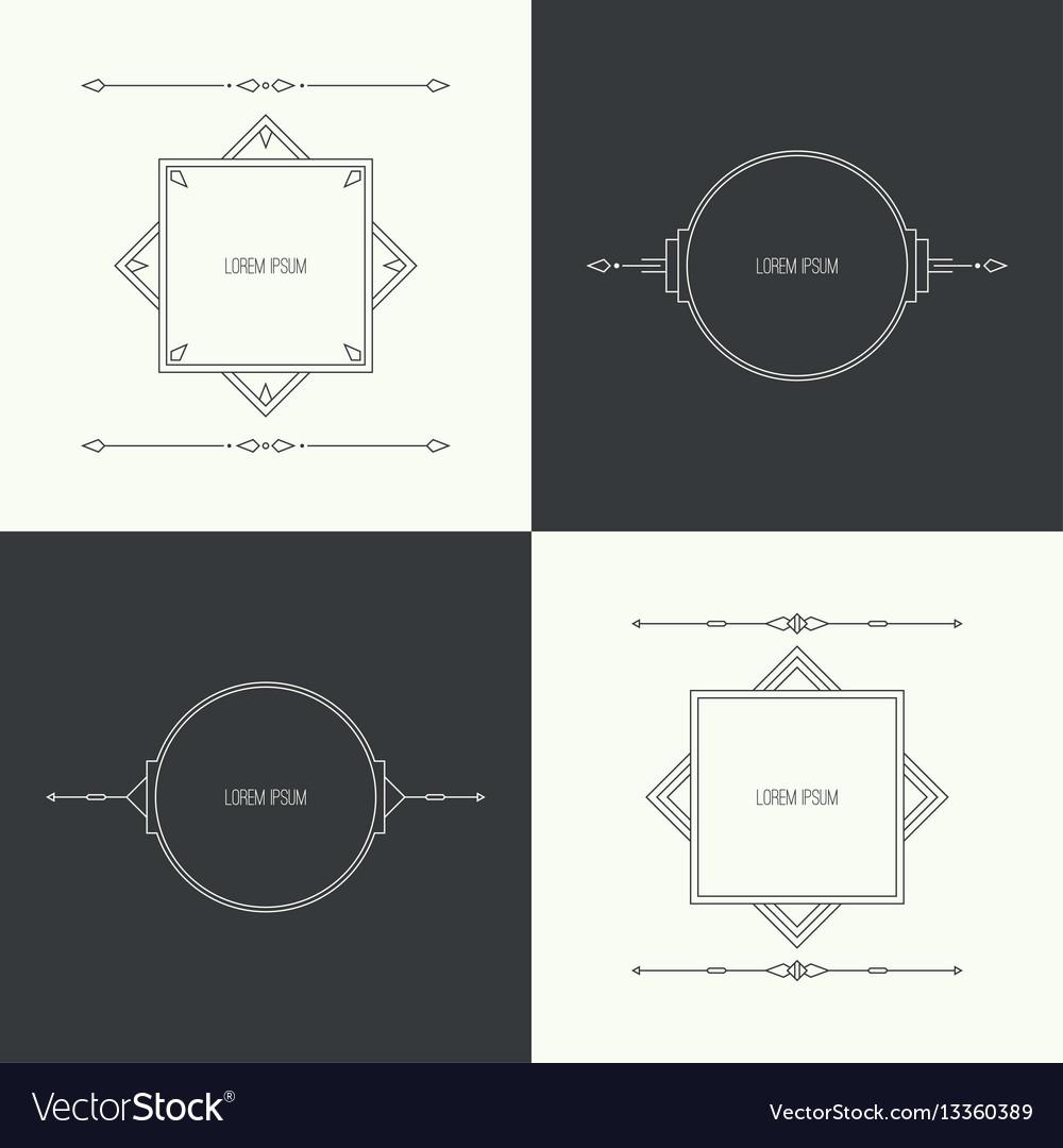 Vintage linear geometric frame