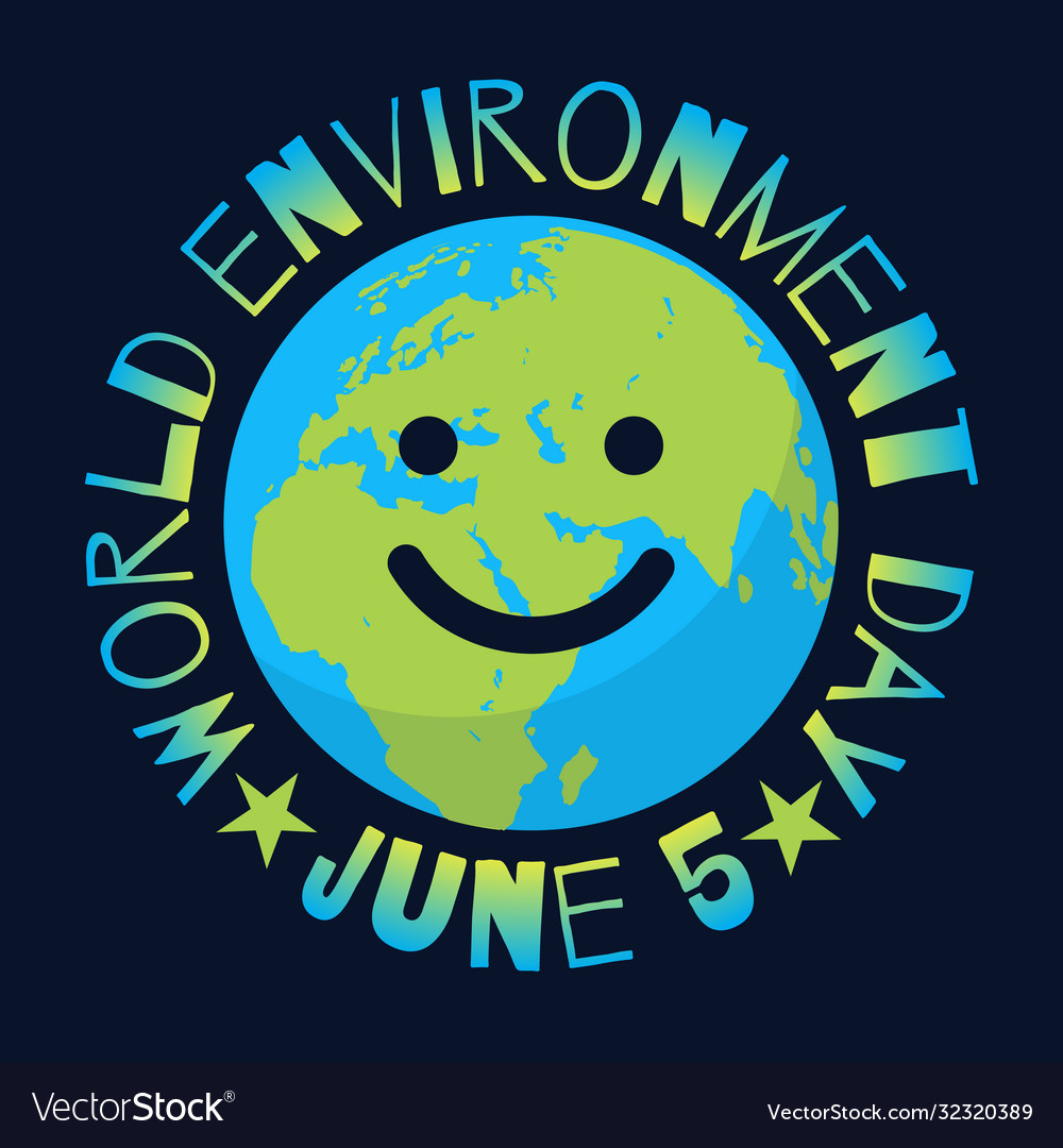 World environment day poster greeting text