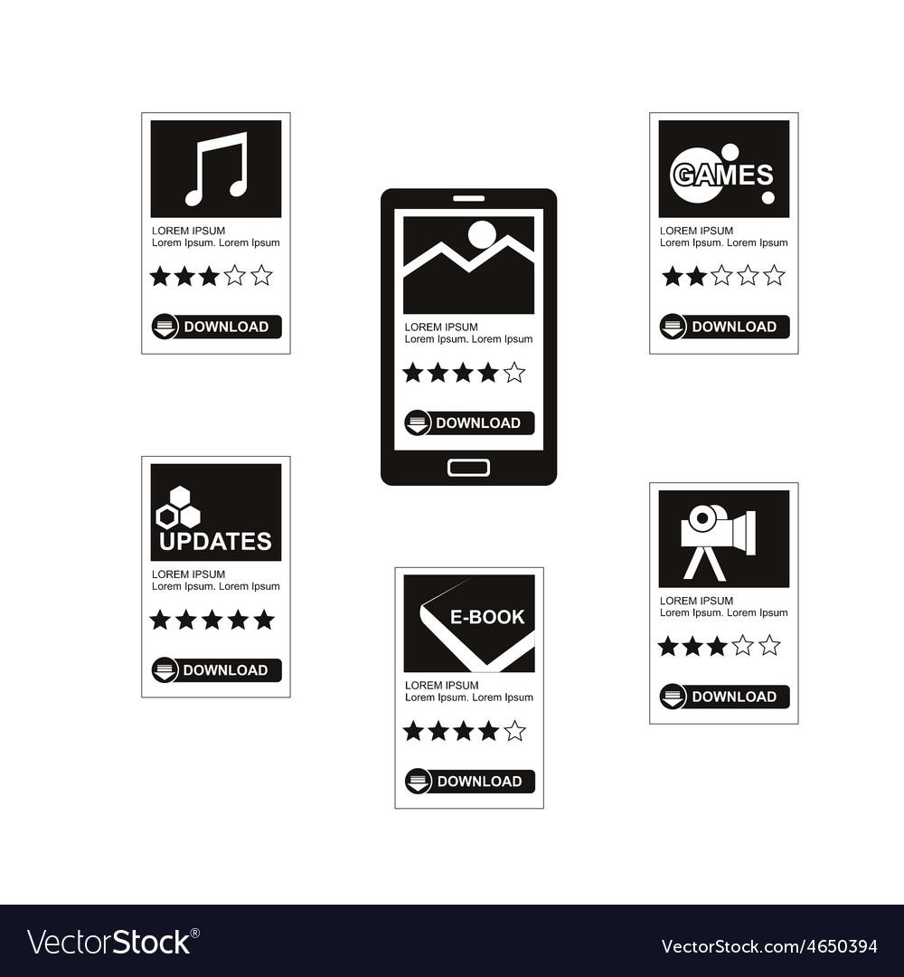 Download applications vector image
