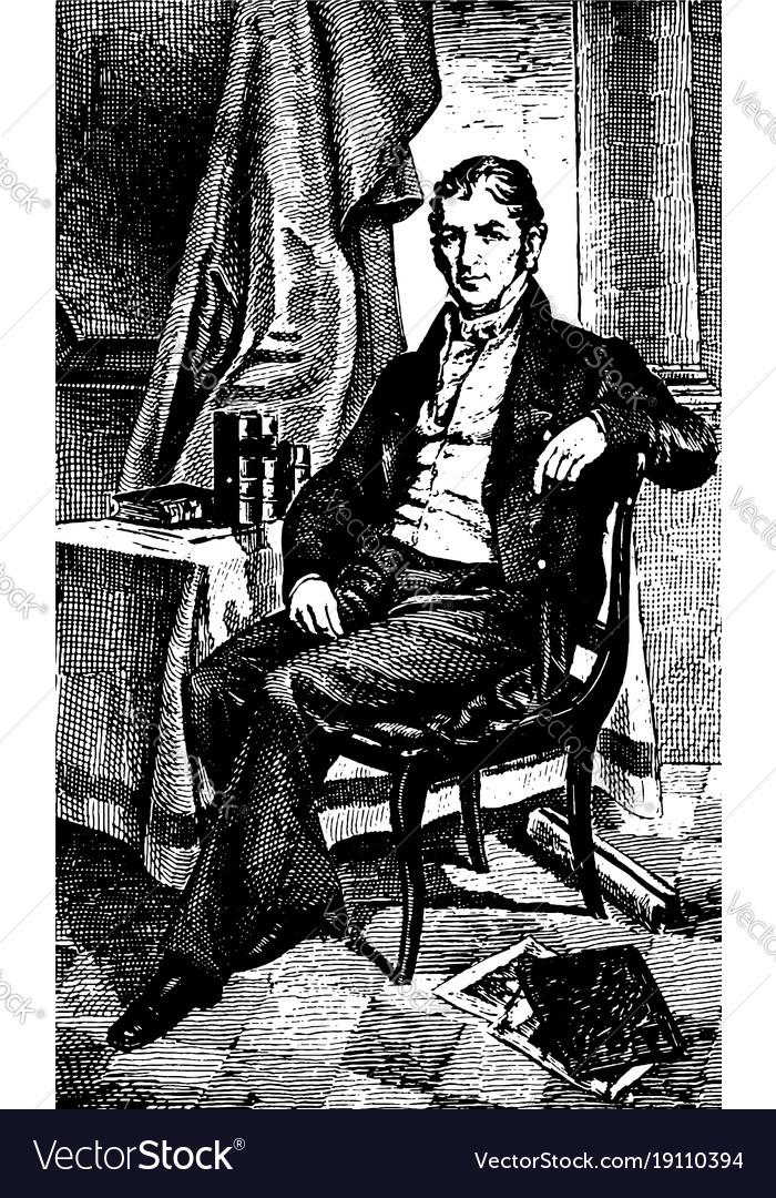 Eli whitney vintage vector image