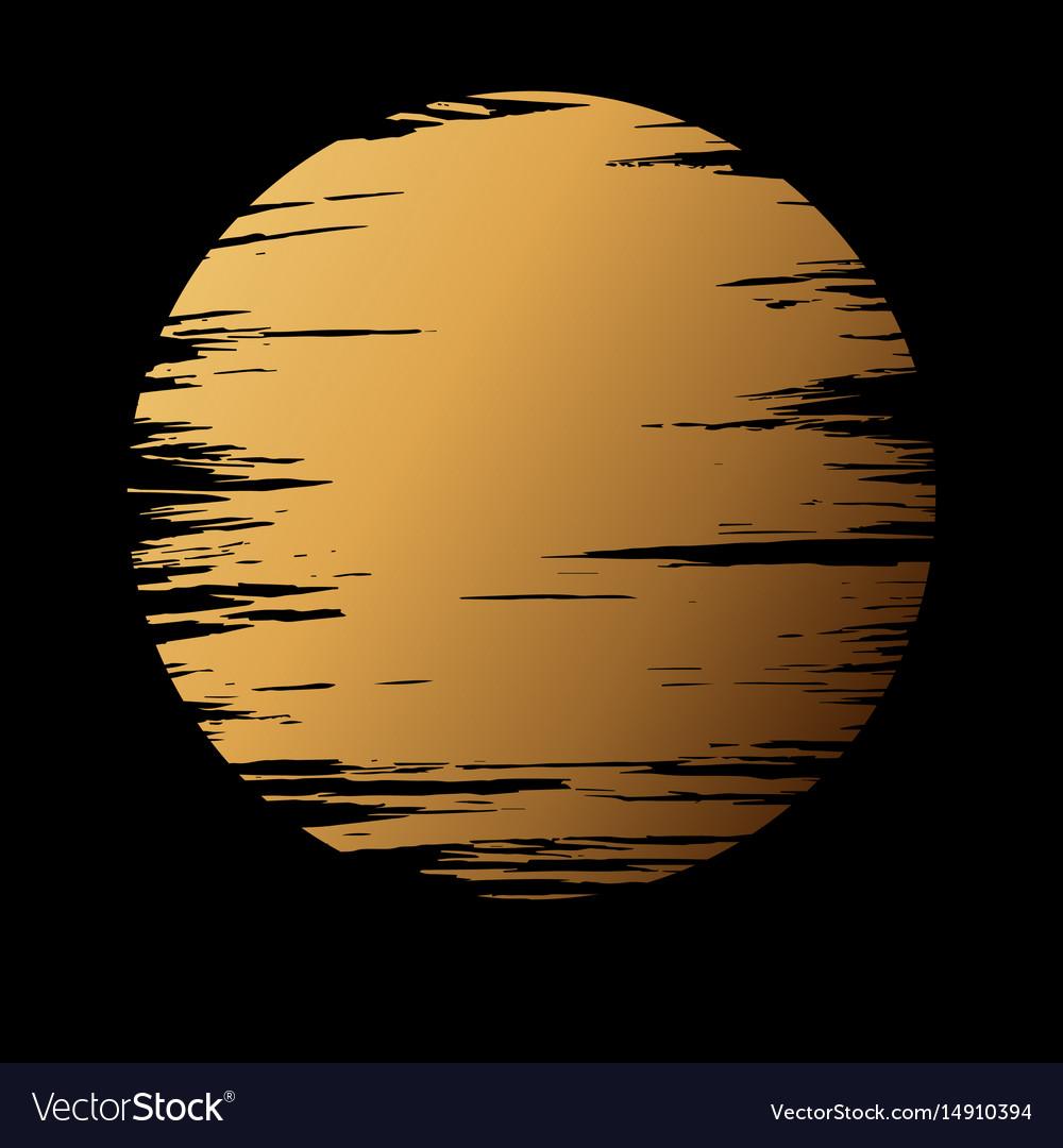 Golden moon in dark