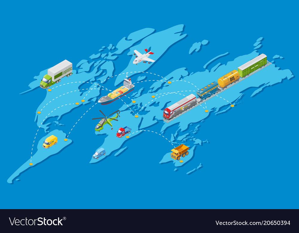 Isometric global logistic transportation network