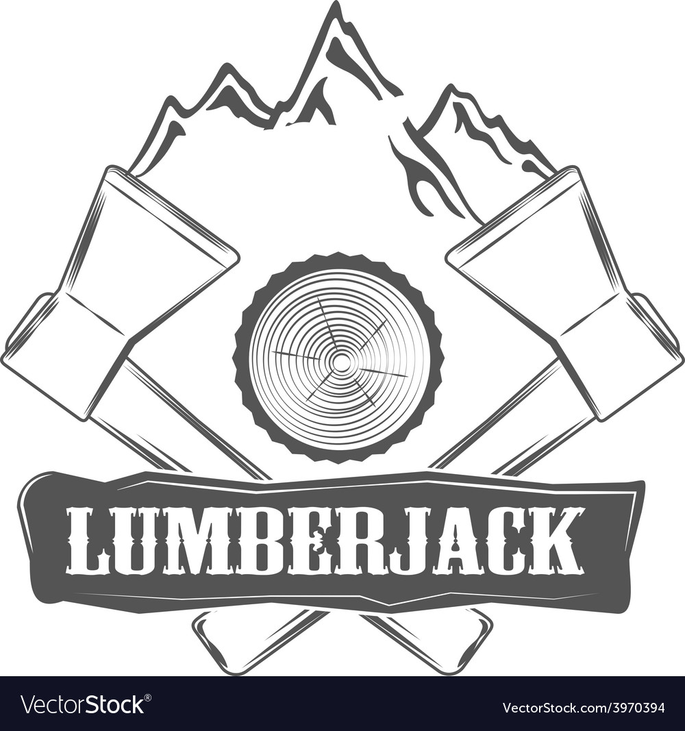 Lumberjack woodman logo and pictures