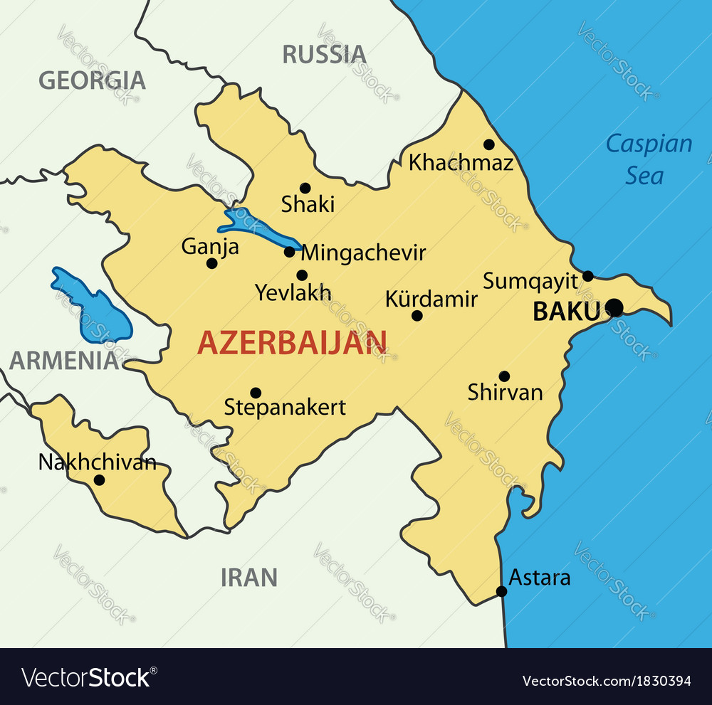 Map Of Azerbaijan Republic of Azerbaijan   map Royalty Free Vector Image
