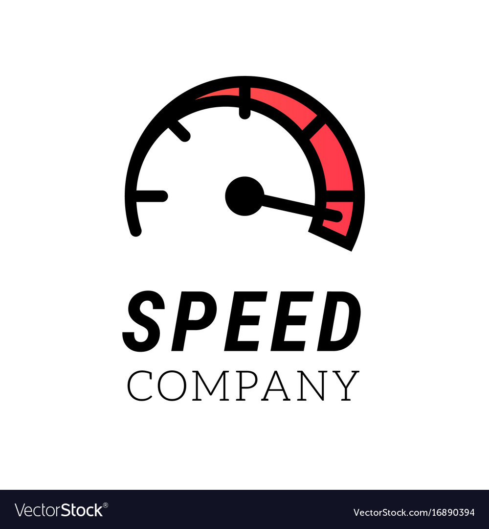 Speed logo internet or car abstract symbol of vector image