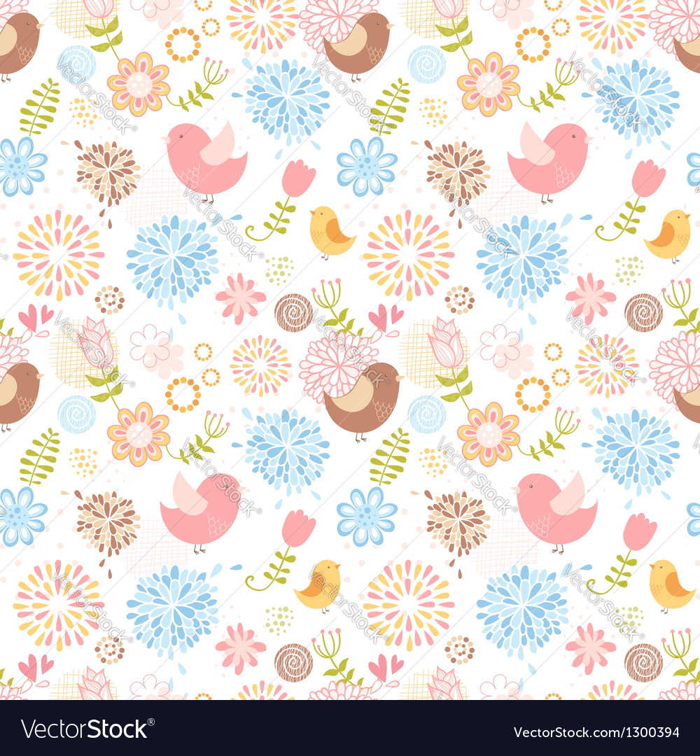 Summer lovely floral seamless pattern