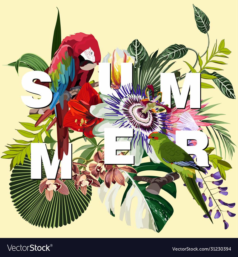 Summer sale tropical beach banners