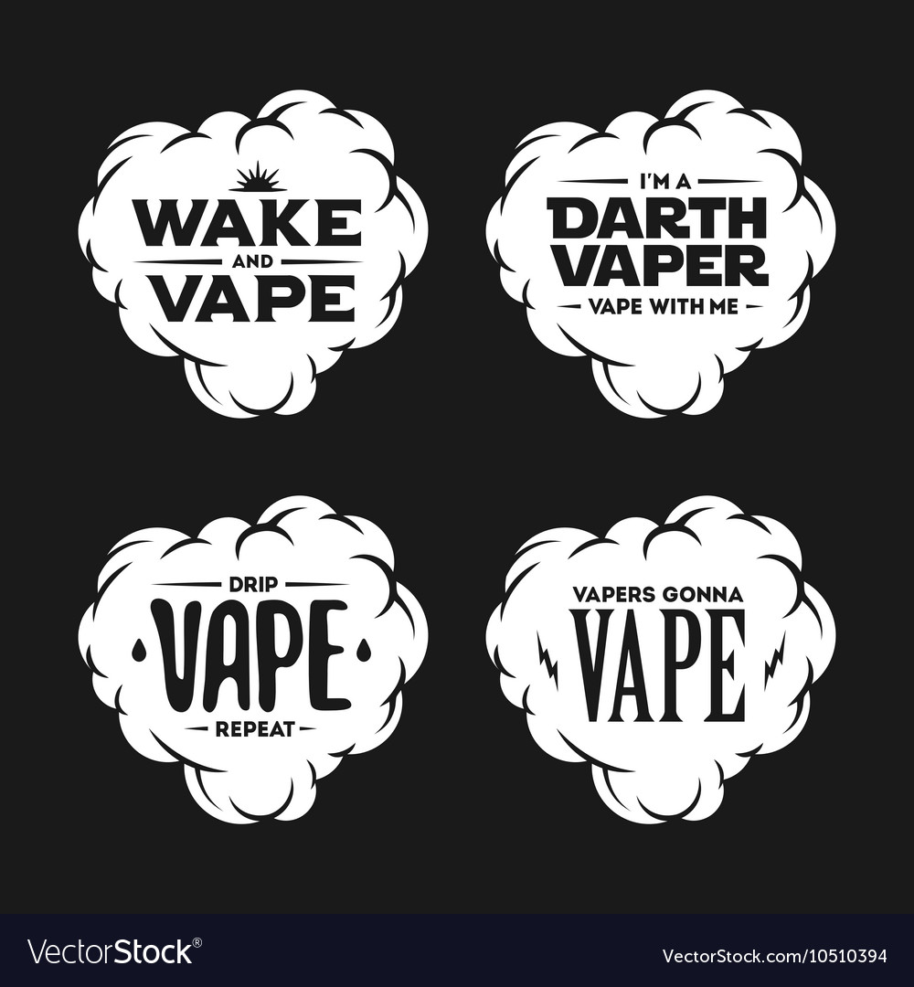 Vape related t-shirt vintage designs set Quotes