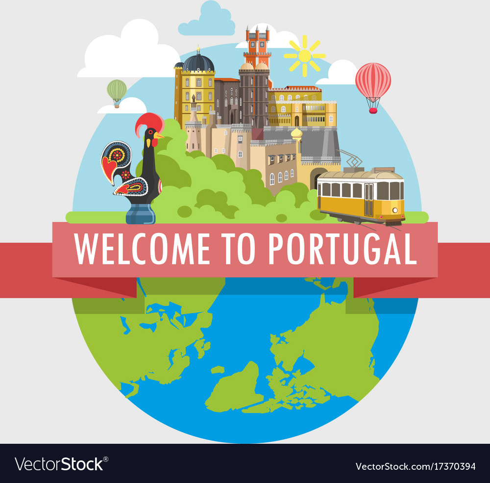 Welcome to portugal travel poster of