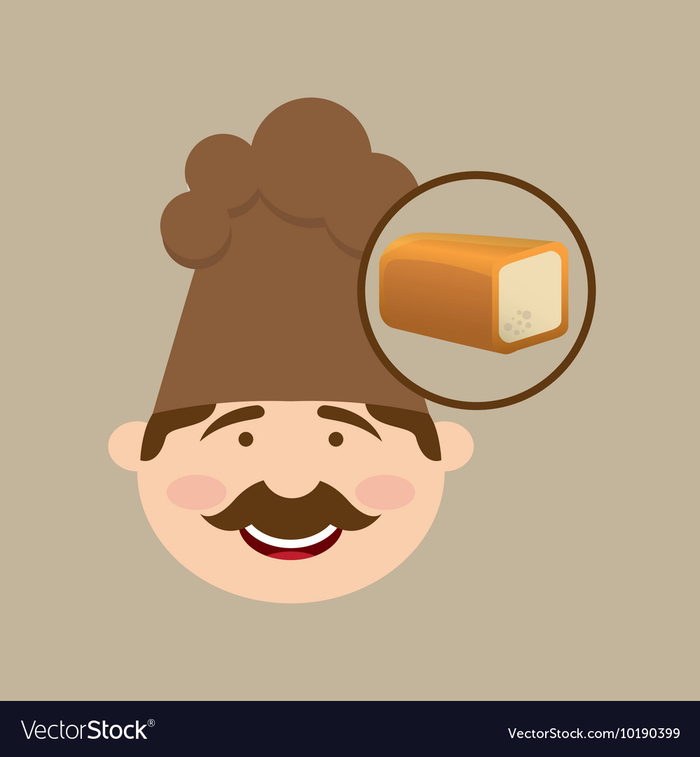 Baker holding a sliced bread vector image