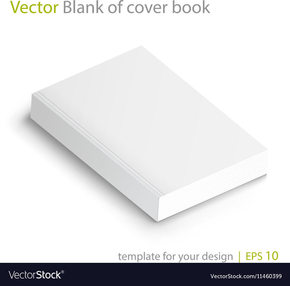 Blank of book cover Template