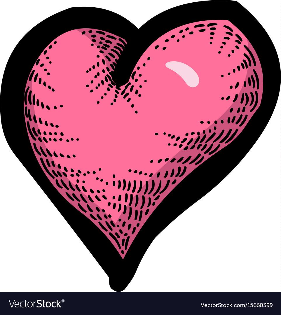 Cartoon image of heart icon love symbol vector image