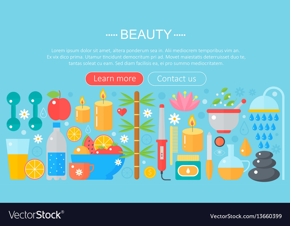 Concept beauty and shopping icons beauty