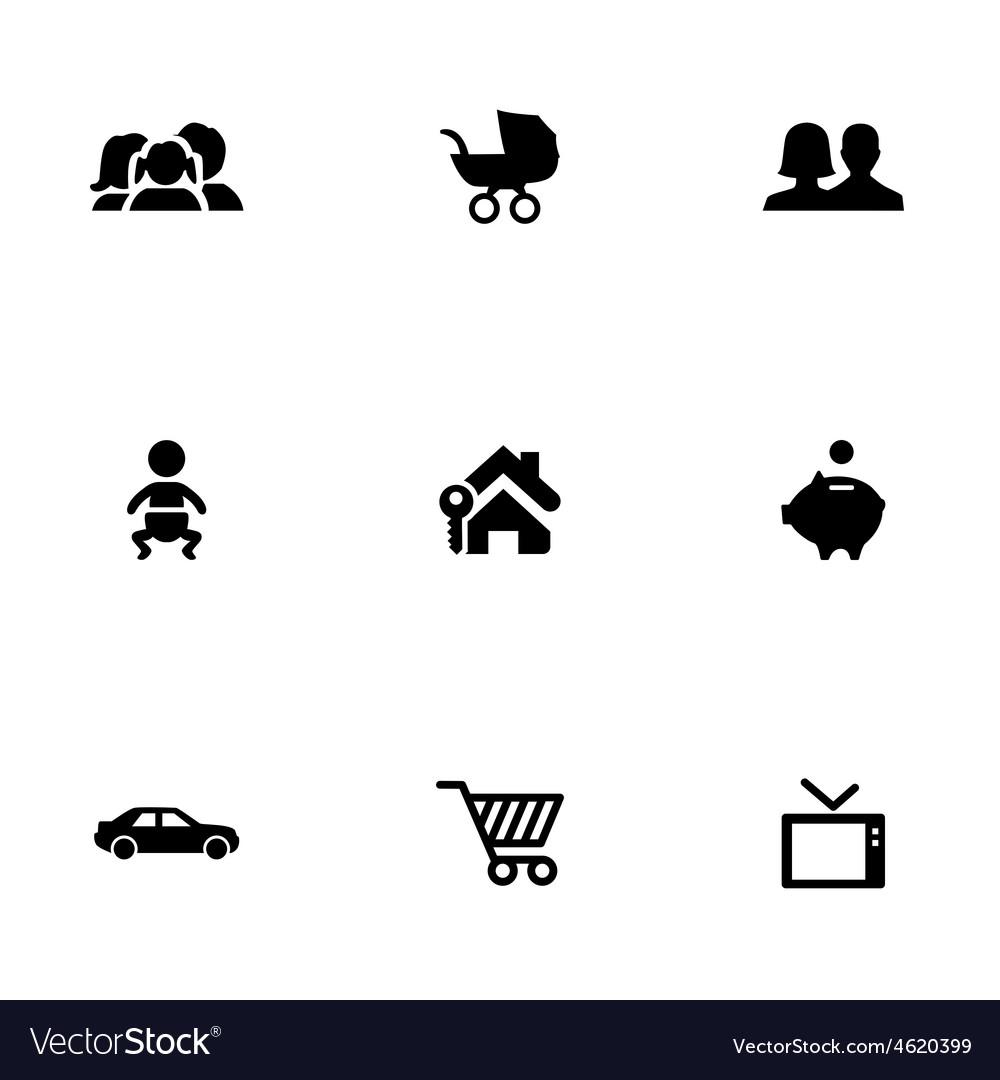 Family 9 icons set