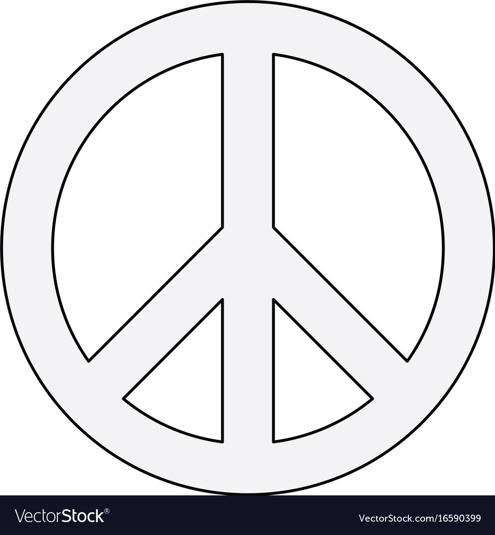 Hippie Peace Symbol Royalty Free Vector Image Vectorstock