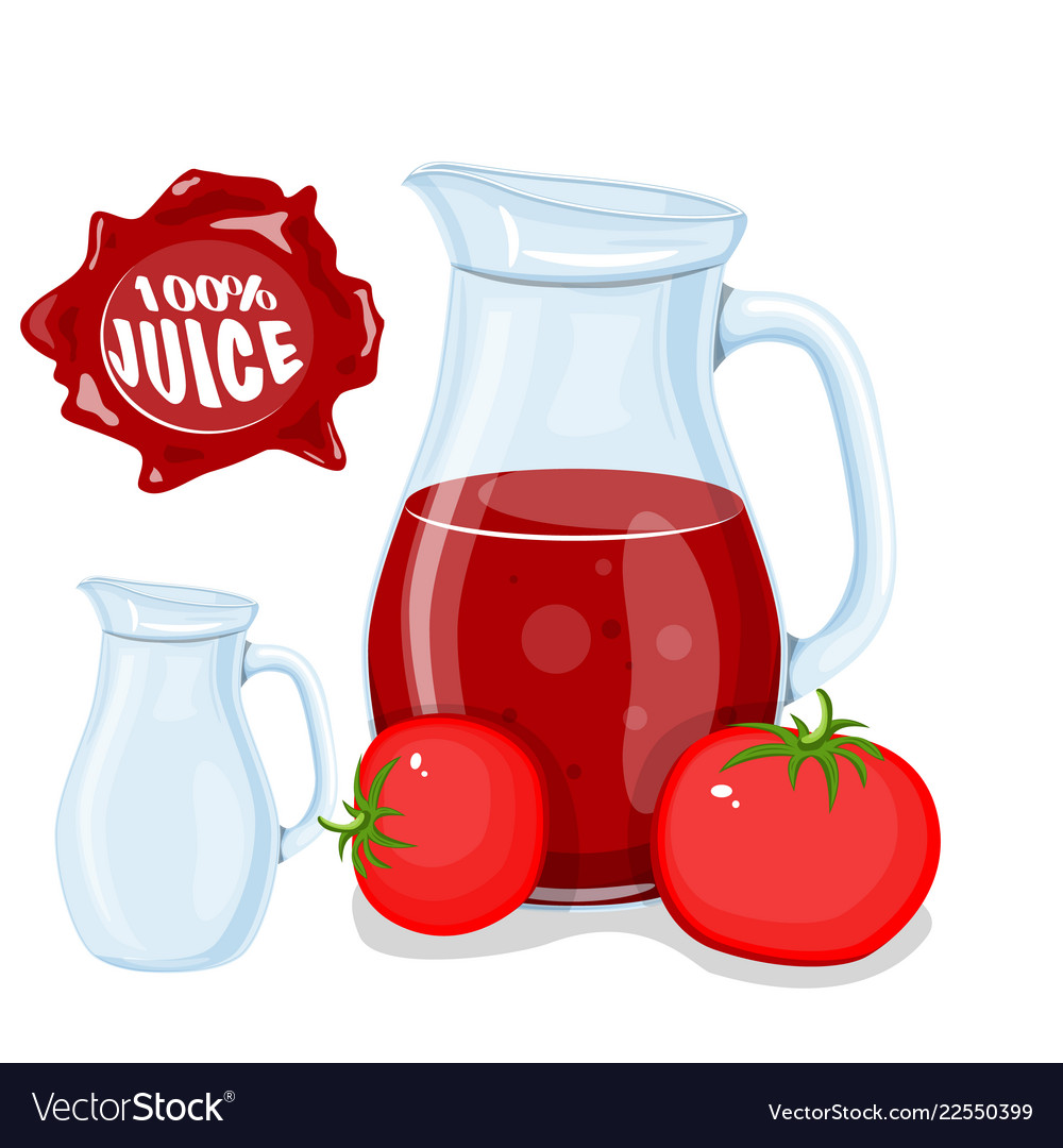 Plastic bottle with red cherry fruit juice and