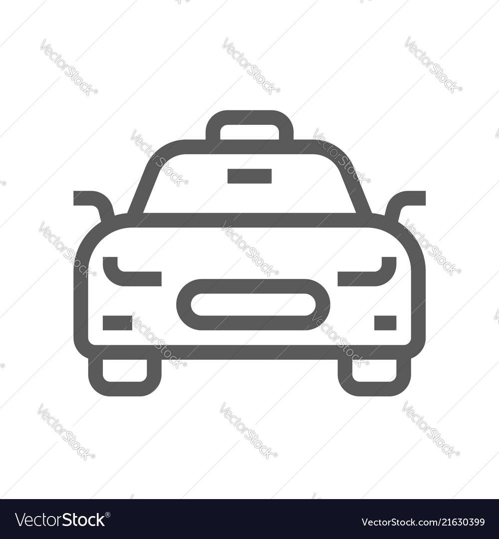 Public navigation line icon taxi