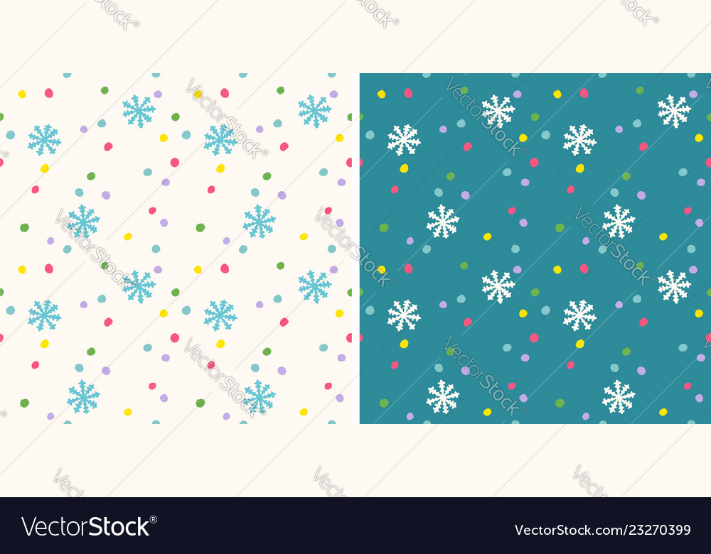 Retro funny pattern for holidays with snow