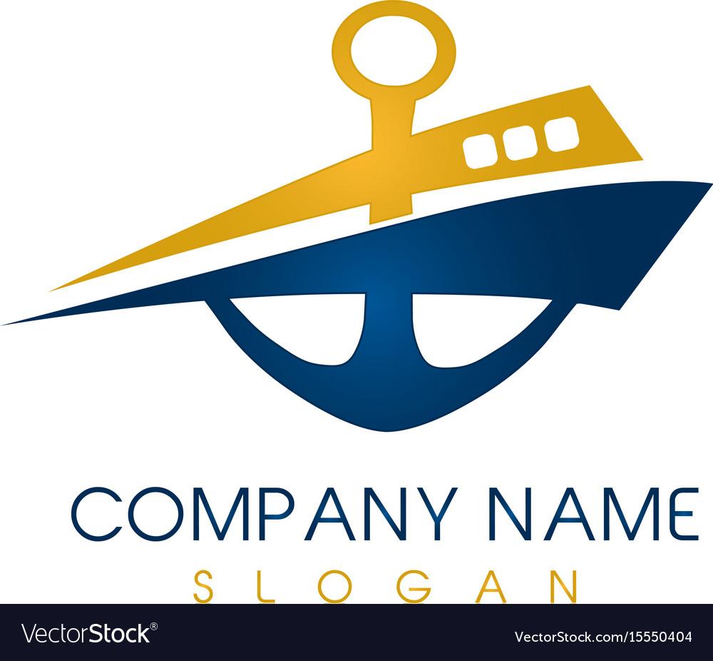 Abstract boat logo