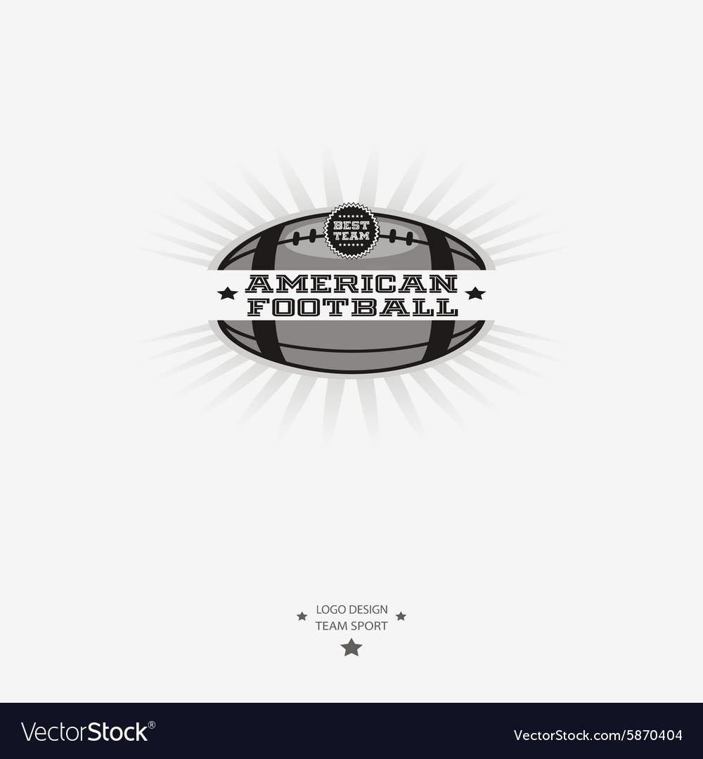 American football emblem logo badge with ribbon vector image