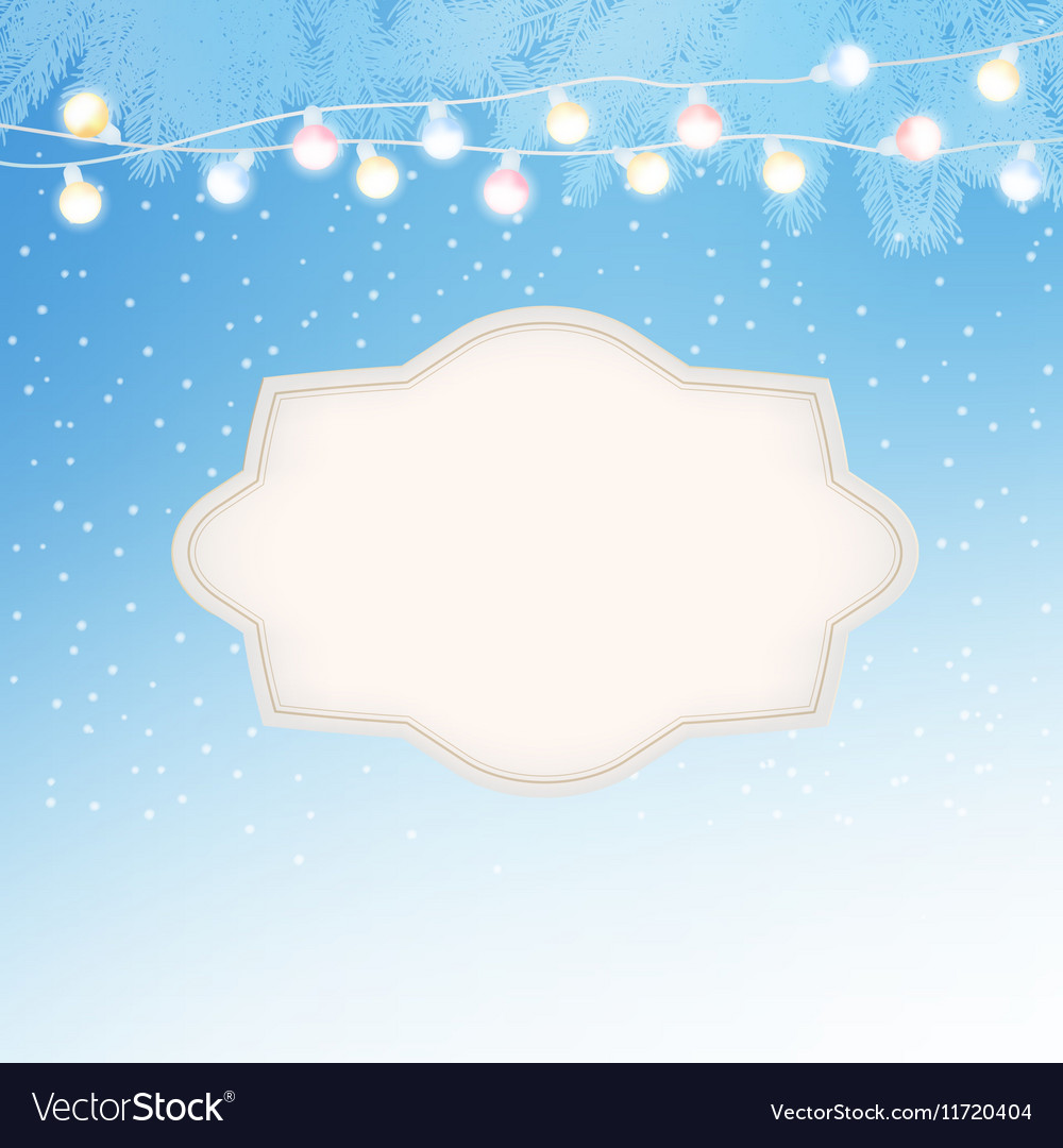 Christmas New Year greeting card invitation with