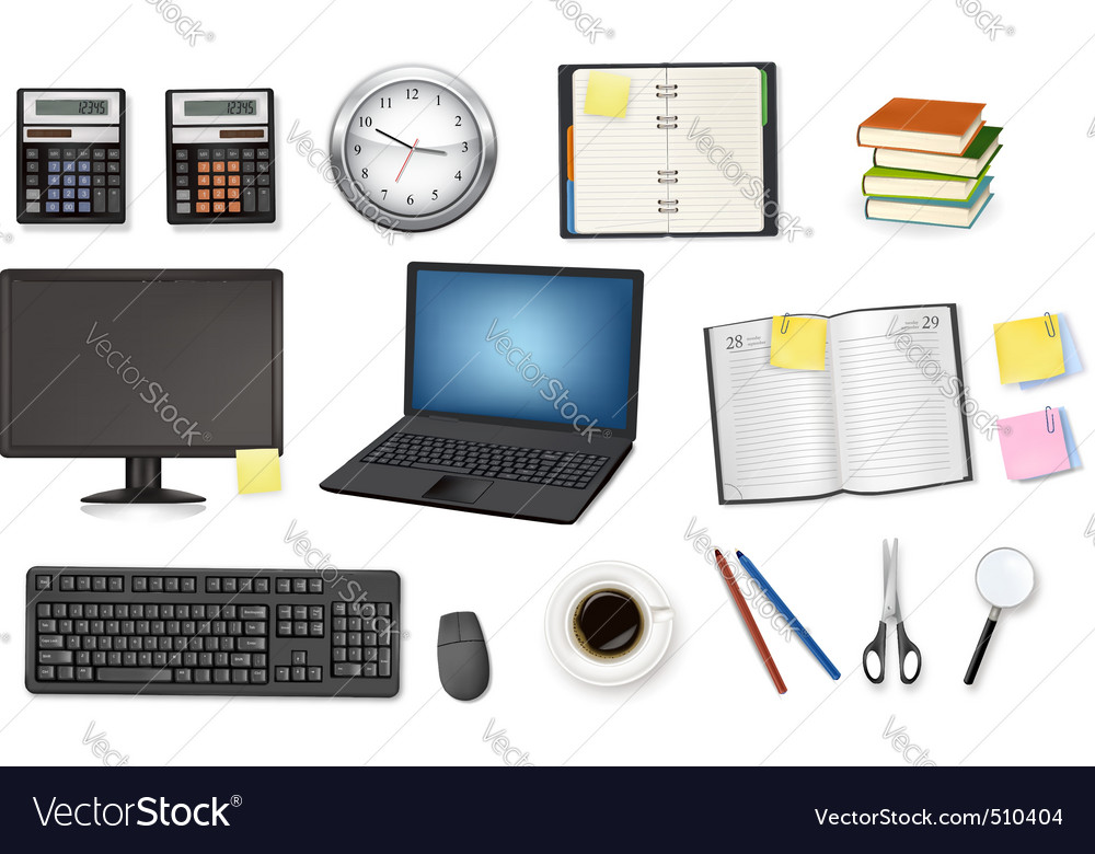 Office itesm vector image