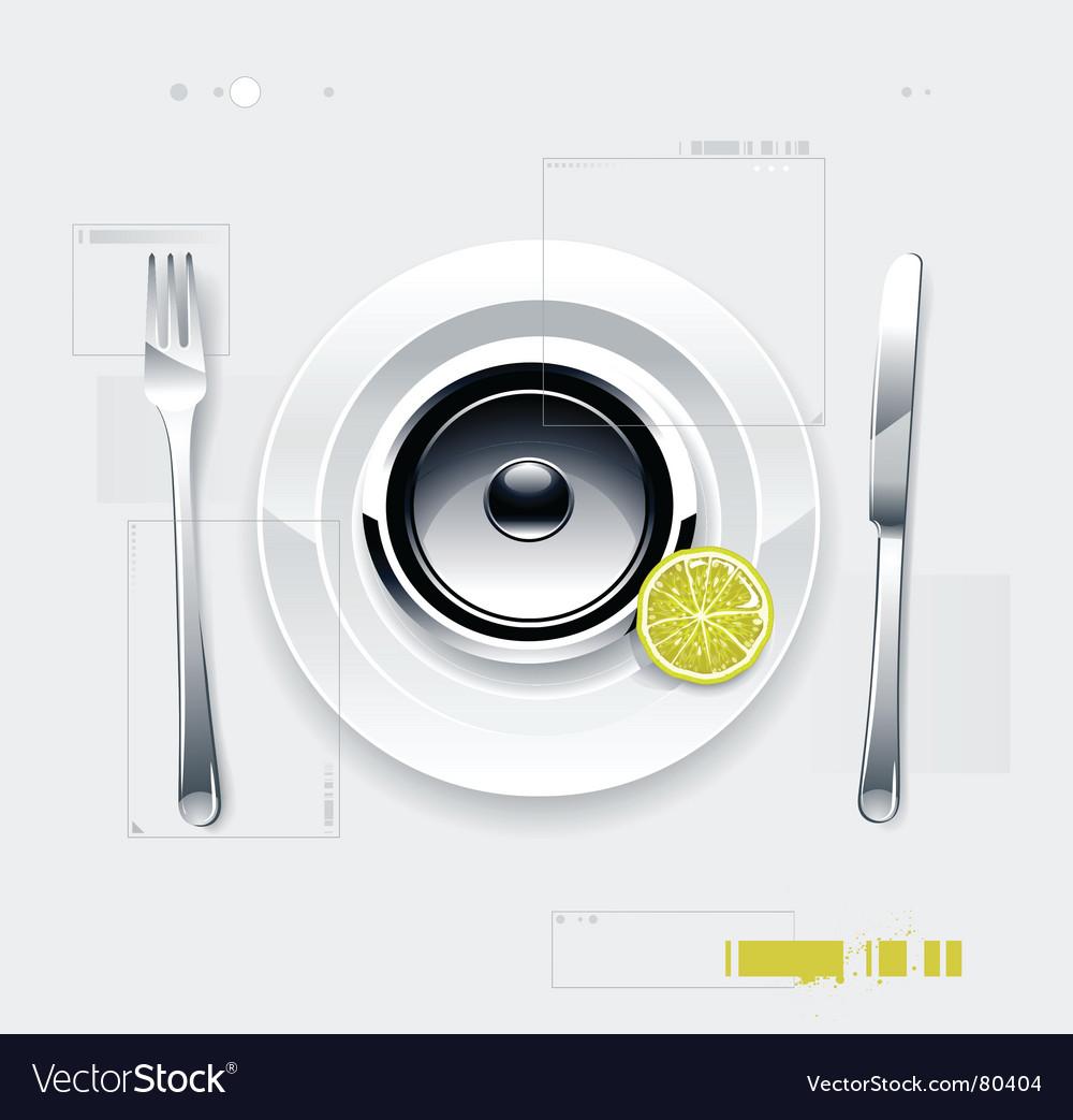 Speaker on plate