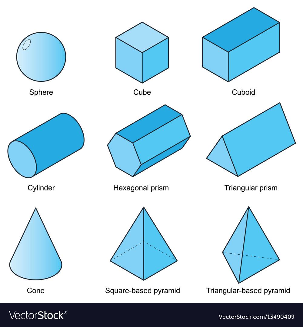 3d shape set