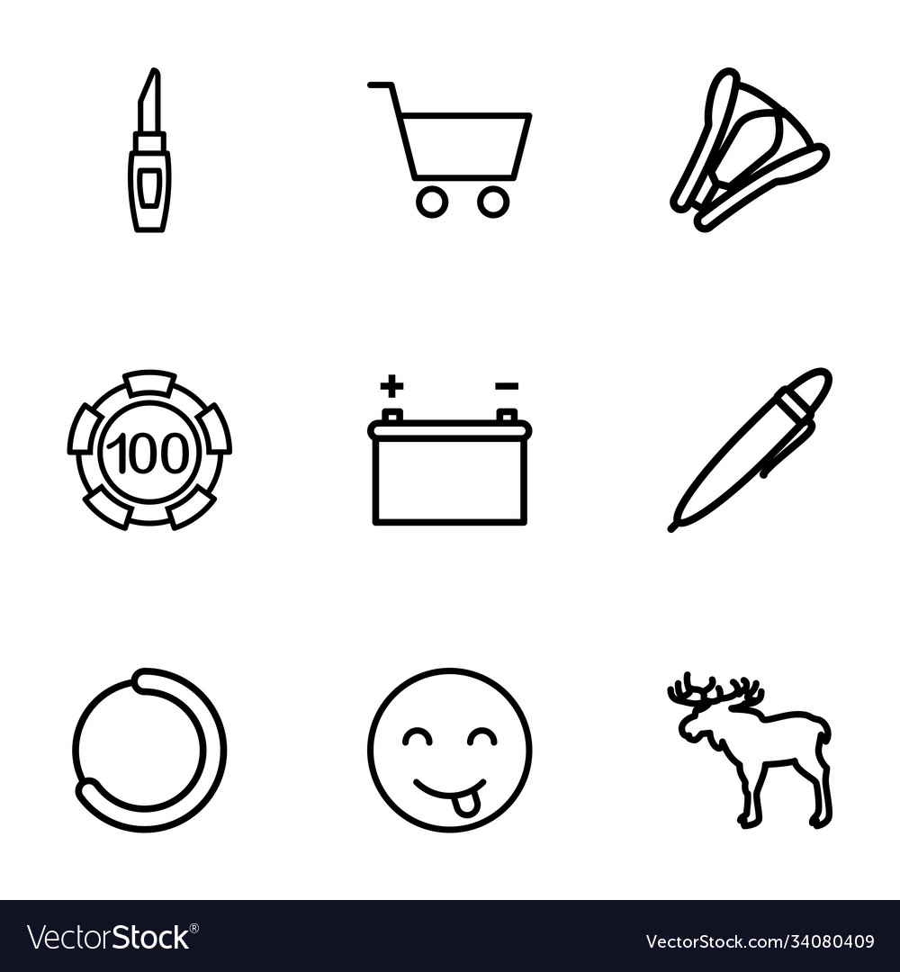9 isolated icons