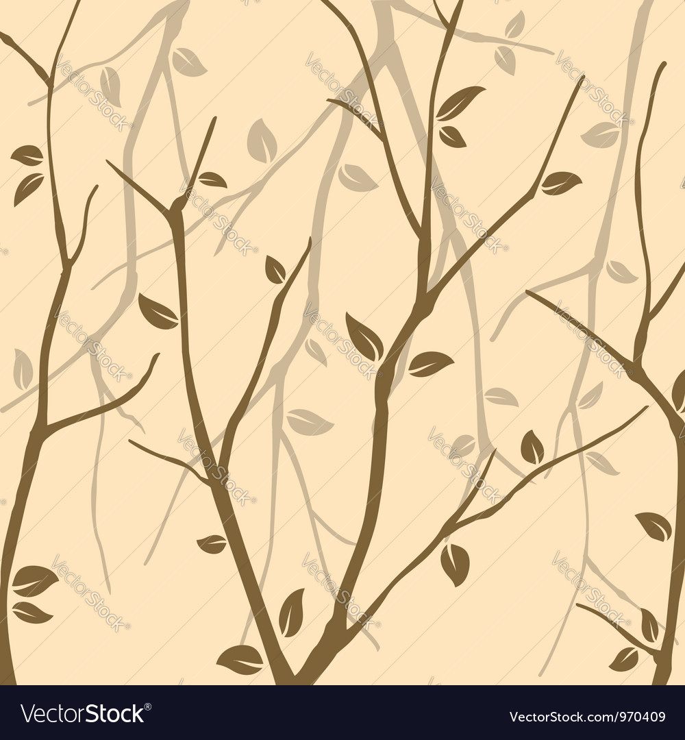 Abstract Autumn leaves wallpaper vector image
