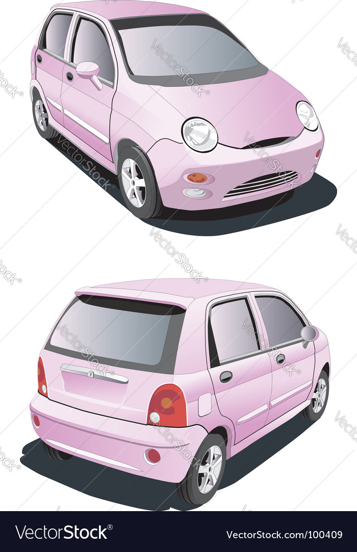 Cartoon pink car