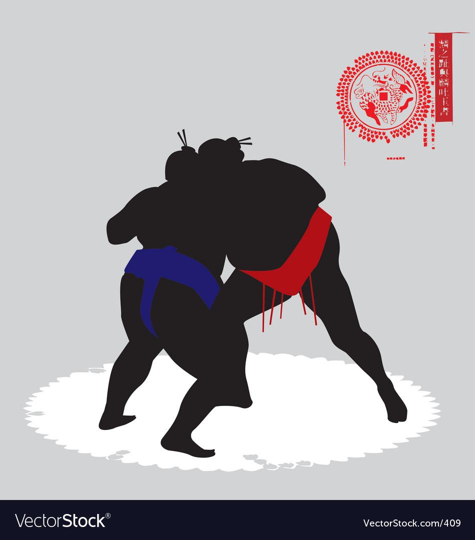 Sumo fighters vector image