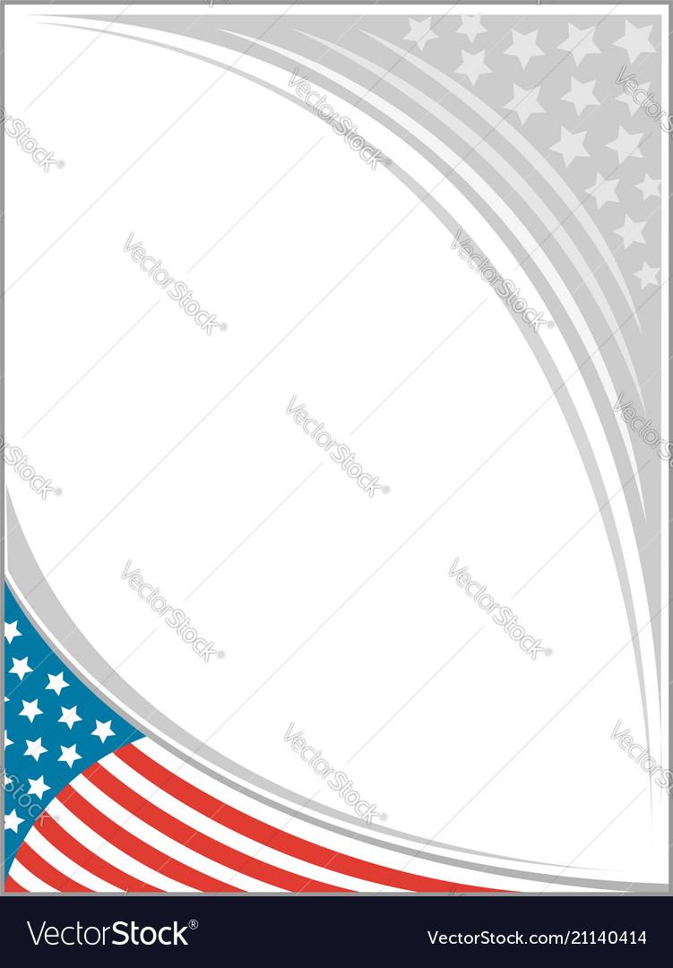 American flag frame template design