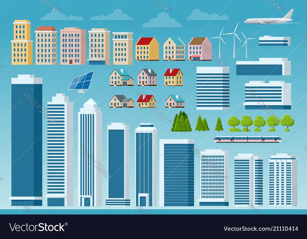 Big set of city and suburban constructor