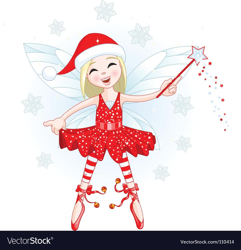 Christmas fairy vector image