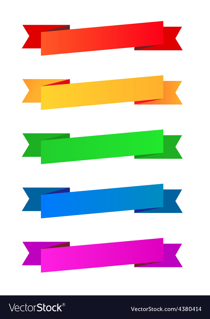 Collection of color ribbons vector image