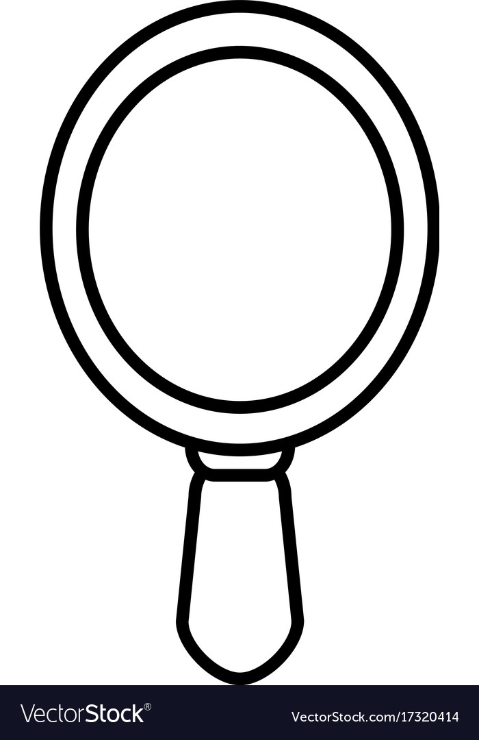 mirror icon outline style royalty free vector image