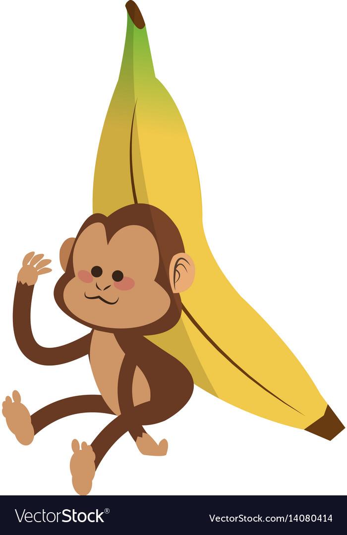 Monkey cartoon icon