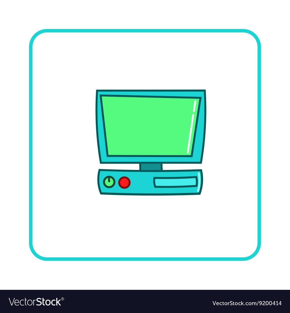 old computer icon simple style royalty free vector image rh vectorstock com computer icon vector png computer arrow icon vector