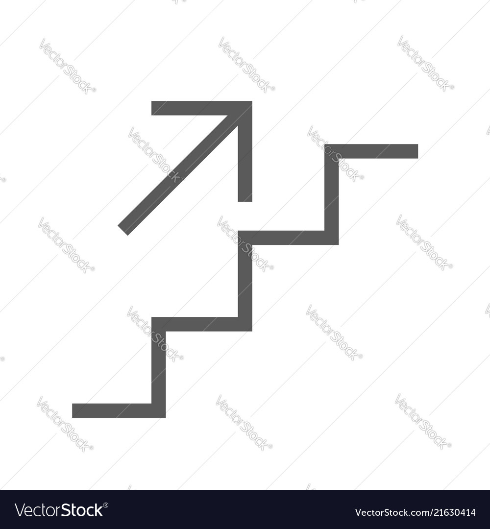 Public navigation line icon stairs