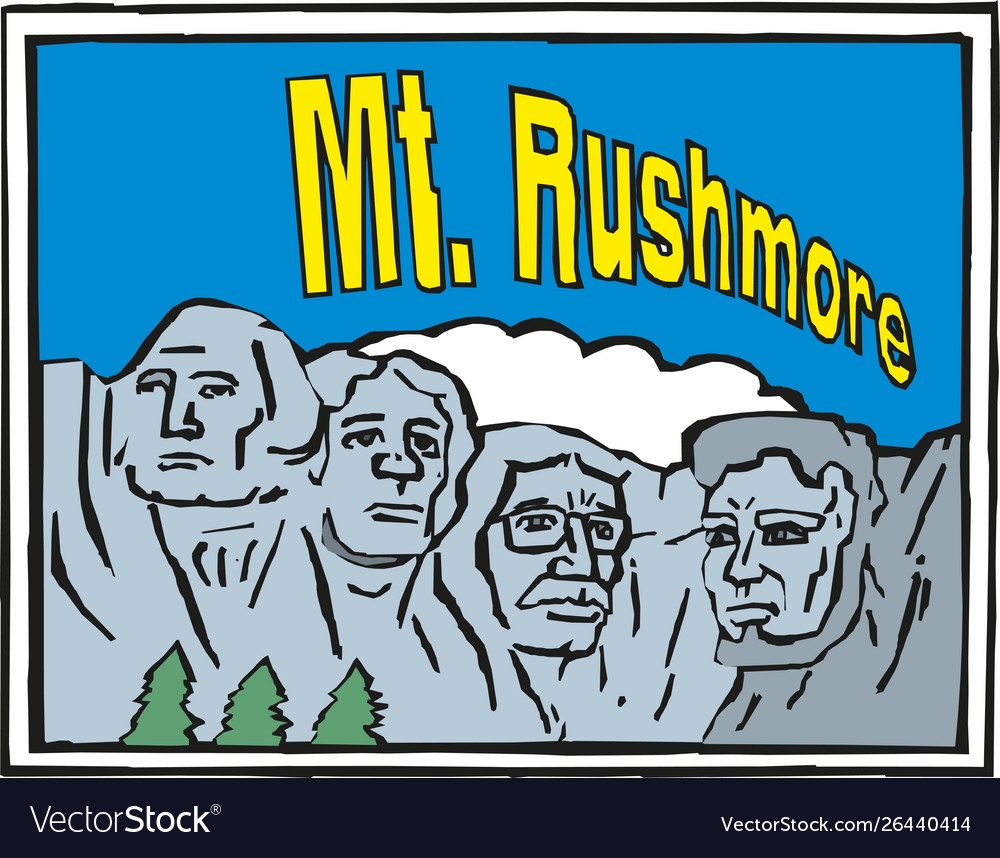 Rushmore usa landscape background greeting card
